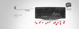 Keybord WIRED TSCO TK-8018